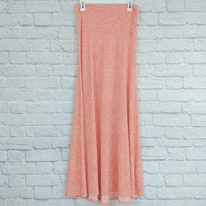 LulaRoe | Maxi Coral/Pink Floral Skirt